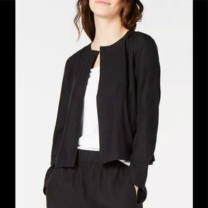 Eileen Fisher Tencel Black Casual Jacket Blazer XS